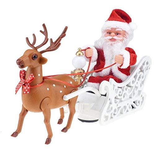 Amoyer Regalos Elk Trineo De Juguete Eléctrico De Santa Claus Ciervos De...