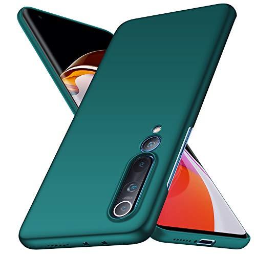 Kqimi Hülle für Xiaomi Mi 10 Pro 5G Ultradünne Leichte Matte Handyhülle Einfache Stoßfeste Kratzfeste Ganzkörper Hülle kompatibel mit Xiaomi Mi 10 Pro 5G 2020 (grün)
