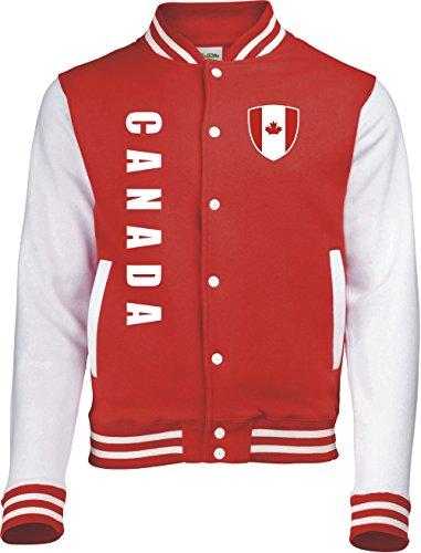 Kanada College Jacke -Trikot Look - 6 (M)