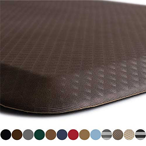 Kangaroo Original Standing Mat Kitchen Rug, Anti Fatigue Comfort Flooring, Phthalate Free, Commercial Grade Pads, Waterproof, Ergonomic Floor Pad for Office Stand Up Desk, 39x20, Brown