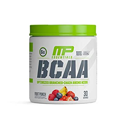 MP Essentials BCAA Powder, 6 Grams of BCAA Amino Acids, Post-Workout Recovery Drink for Muscle Recovery and Muscle Building, Valine Powder, BCCA Post-Workout, Fruit Punch, 30 Servings
