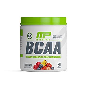 Muscle Pharm Essentials BCAA Powder Post-Workout Recovery Drink Fruit Punch 30 Servings