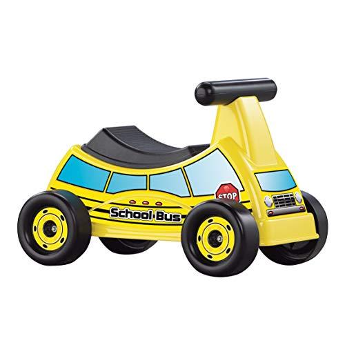American Plastic Toys School Bus Ride-On, Yellow, Model:30010