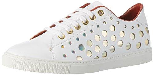 Liebeskind Berlin Damen LF173310-calf Sneakers, Ivory White, 36 EU