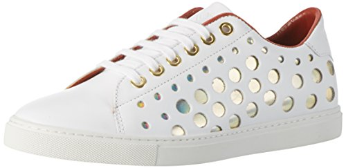 Liebeskind Berlin Damen LF173310-calf Sneaker, Ivory White, 39 EU