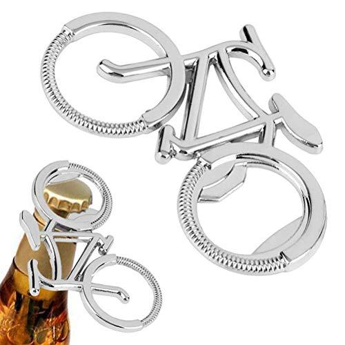 Leikance Abridor de botellas de bicicleta, de acero inoxidable, innovador abridor de botellas de cerveza en forma de bicicleta para hombres y mujeres