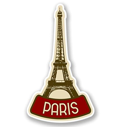 2 x 10cm/100 mm París Francia Etiqueta autoadhesiva de vinilo adhesivo portátil de viaje equipaje signo coche divertido #4619