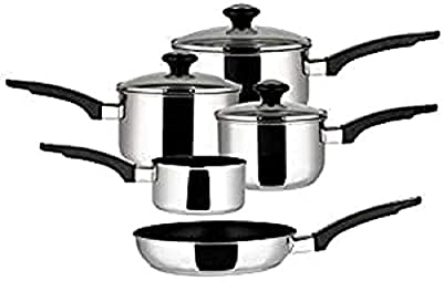 Prestige Stainless Steel Pan Set of 5, Silver- Parent by