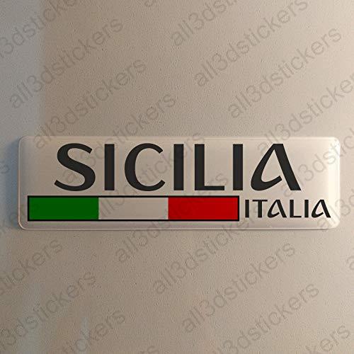 Sizilien Italien Aufkleber Sizilien 120x30mm Autoaufkleber Flagge 3D Fahne Italia