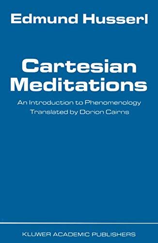 Cartesian Meditations: An Introduction to Phenomenology