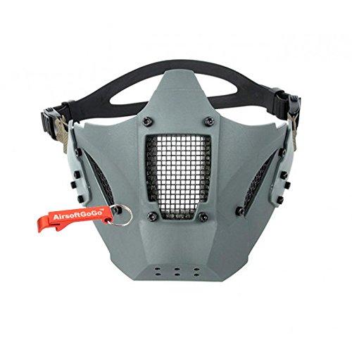 Adjustable Táctico Estilo militar TMC Jay Fast Media cara de la Máscara protectora para Airsoft (Gris) - AirsoftGoGo Llavero Incluido