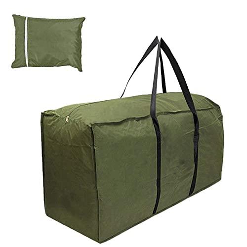 Funda de cojín para patio exterior, de tela Oxford 210D, para muebles, para mesa, jardín, muebles, resistente, 173 x 76 x 51 cm, color verde