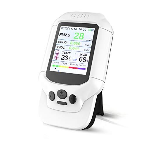 Air Quality Monitor Luftqualität Messgerät Luftqualitätsmonitor Staubprobenahmer PM2.5/PM1.0/PM10 HCHO TVOC Temp Hum Formaldehyd Detektor für Innen Raumluft Ampel mit LCD Farbbildschirm