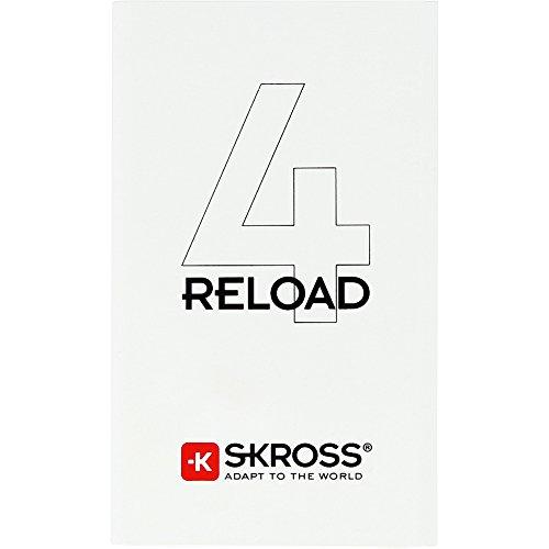 SKROSS Reload 4, 4000 mAh, Weiß - Energie zum Mitnehmen – perfekt für unterwegs