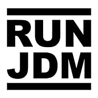 13.5X13CM RUN JDMパーソナリティカーステッカービニールステッカーブラック/シルバーC26-0021 (Color Name : Black)