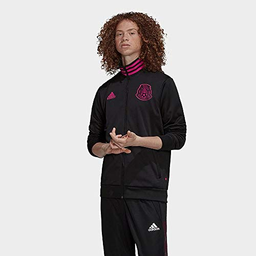 adidas 2020-21 Mexico 3-Stripe Track Top - Black-Pink S