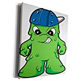 3dRose Dooni Designs Monsters and Alien Designs - Silly Booger Monster WIth Attitude - Museum Grade Canvas Wrap (cw_102245_1)