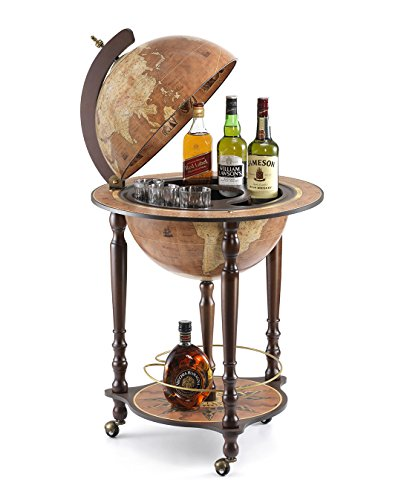 Da Vinci Rust Bar GlobeMade in Italy with Certificate of Authenticity (Rust)
