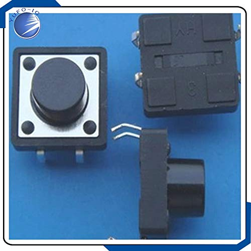 1000pcs 12127MM micro switch touch switch Tactile Push Button switch 12X12X7 foot horizontal domestic copper 12127