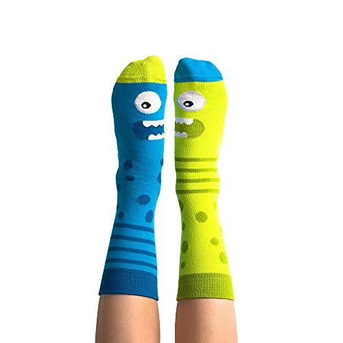 Nanushki Kindersocken   Lustige Außergewöhnliche Socken   Witzig Socken Verrückt   3 Größen   OEKO-TEX (23-26, Dual S(h) ock)