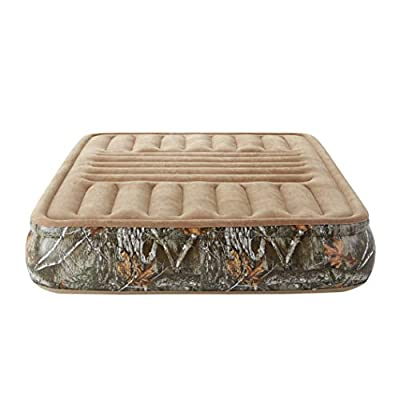 Camouflage Outdoor Sport Camping Tri-Zone Air Mattress with Express Pump, Heavy Duty Vinyl Bed (Queen)