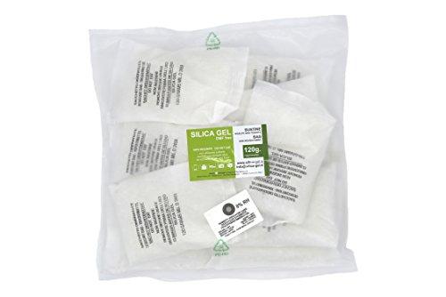 Silica gel - 10 bustine disidratanti da 120 grammi cadauna sali essiccanti involucro in TNT