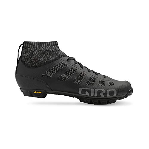 Giro Unisex's Empire VR70 Knit MTB Cycling Shoes, Black/Charcoal, Size 42