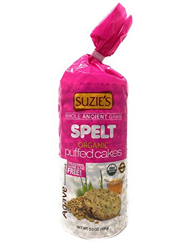 Suzie's Spelt Organic Puffed Cakes, Agave Sweetened, 5 OZ - Pack of 12