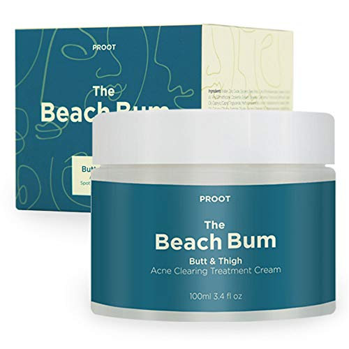 Butt & Thigh Acne Clearing Spot Treatment Cream. Clears Acne, Pimples, Ingrown Hairs, Blackheads, Zits, Razor Bumps and Dark Spots for the Buttocks and Thigh Area. Prevents Future Breakouts.