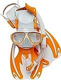 Cressi Rocks Kids Set, White/Orange, L/XL