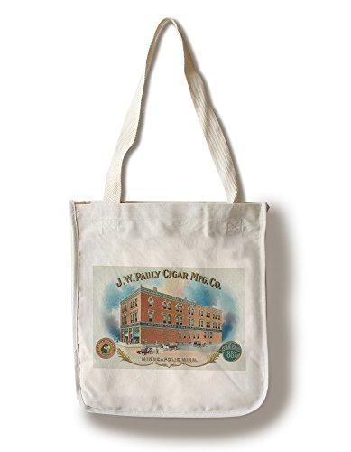 Lantern Press J.W. Pauly Cigar Manufacturing Company Brand Cigar Box Label (100% Cotton Tote Bag - Reusable)