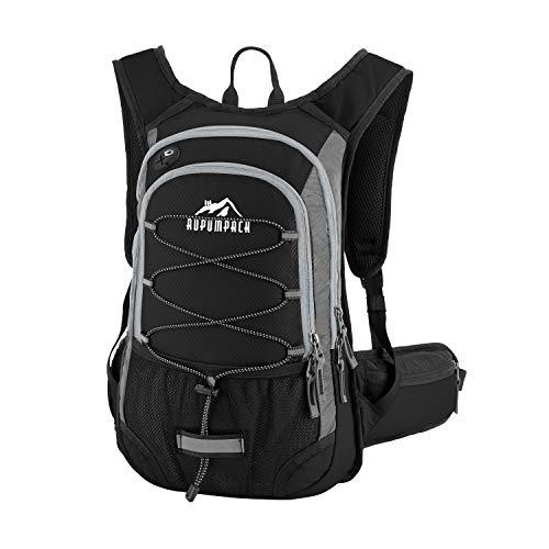 Mochila de hidratación aislada de RUPUMPACK con bolsa de agua sin BPA de 2 litros, mantiene el líquido fresco hasta 4 horas, apto para actividades al aire última intervensión para senderismo, correr, ciclismo, camping, esquí, 15 L