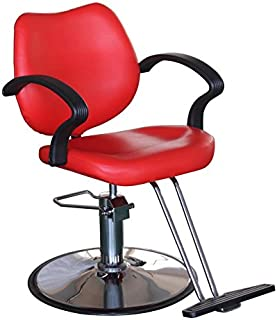 FlagBeauty Hair Beauty Salon Equipment Hydraulic Barber Styling Chair (red)