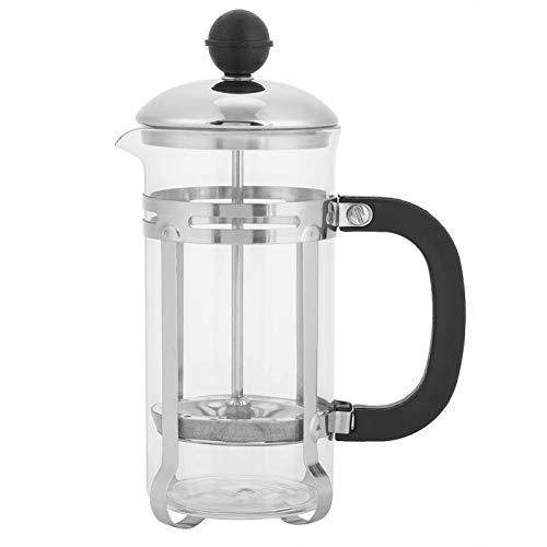 JIUYUE Caffettiera Francese Caffettiere, 350ml in Acciaio Inossidabile Vetro Hollow Caffettiera Francese Filtro for tè e caffè Pot Press Pistoni (Color : White)