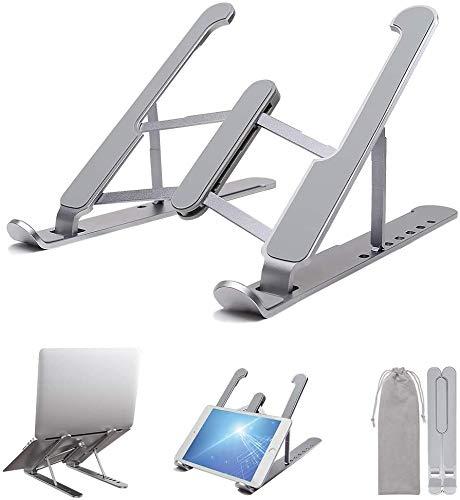 ISMMIK Laptop Stand Desk, Foldable Desktop Laptop Holder, Adjustable Keyboard Raiser Compatible with Macbook, iPad, iPhone, Laptop, Notebook Computer, Tablet, Smartphone