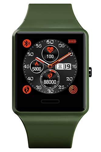 Fitness Armband Herren Bluetooth Smart Watch Männer Uhr Herzfrequenz Kalorienzähler Wecker Schrittzähler Schlaftracker Blutdruck Wasserdicht