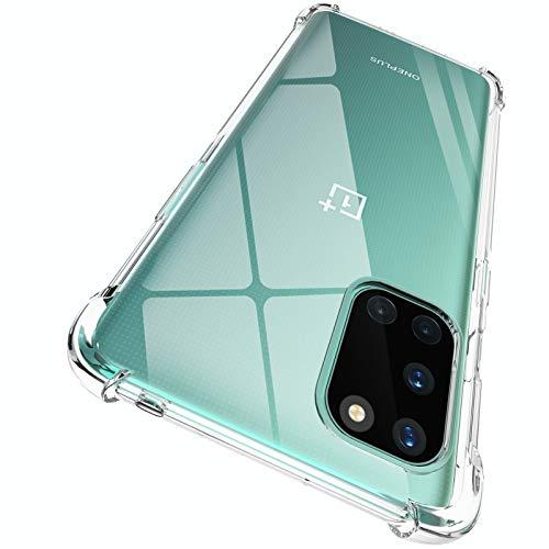 ORNARTO Hülle für OnePlus 8T, Transparent Soft TPU Silikon Handyhülle Vier Ecke Kante Stoßdämpfung Design Kratzfest Durchsichtige Schutzhülle für OnePlus 8T (2020) 6,55 Zoll Klar