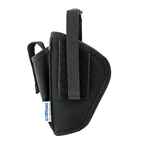 OBRAMO Gürteltasche Holster für Piexon Jet Protector JPX mit Ersatzmagazinholster Rechts- und Linkshänder