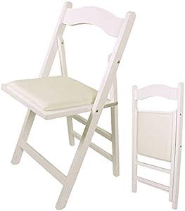 SoBuy® Klappstuhl, Stuhl, Holzstuhl,Küchenstuhl, weiß,FST06-W