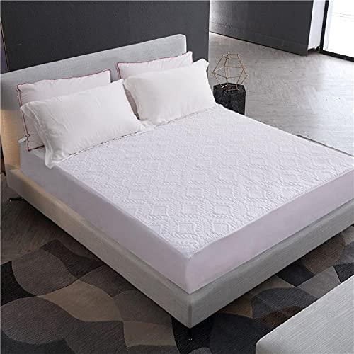 CYYyang Protector de colchón - óptimo antiácarosSábana Impermeable Aislamiento de orina en Relieve-Blanco (Giro) _Queen_60X80 + 18in