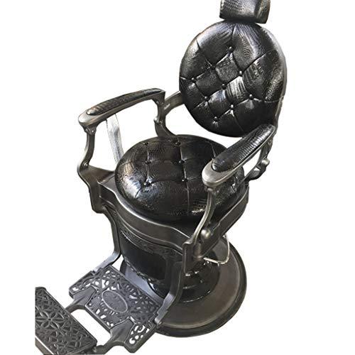 Preisvergleich Produktbild Frisörstuhl DOOST Hochleistungs-Hydraulikliegestuhl,  übergroßer Sitz + Hochleistungshydraulikpumpe,  Salon-Beauty-Spa-Styling-Ausrüstung (Militärgrün)