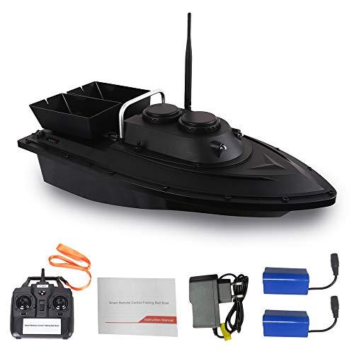 Goolsky D11 RC Barco Buscador de Peces Cebo de Pesca Barco 1.5kg Carga 500m Control Remoto Velocidad Fija 2 Batería 2 Motores 2 Papelera de Cebo 2 Luz LED