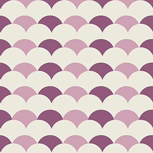 269502 Heraclea Arore tegel zelfklevende decoratie koepel [4 tegels], Roze, 15 x 15 cm