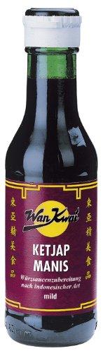 Wan Kwai Ketjap Manis Würzsaucenzubereitung nach indonesischer Art mild, 3er Pack (3 x 125 ml Glas)