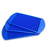 3PACK Silicone Mini Ice Cube Trays 160 Grids Ices Mold Reusable BPA Free for Whiskey Cocktail Kitchen Holiday Bar Party Drinks