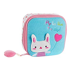 Kanggest Zipper Coin Purse Women Girl Cute Sanitary Pad Storage Holder Sanitary Napkin Bag Small Cartoon Handbag Napkin Towel Convenience Bags Travel Makeup Bag