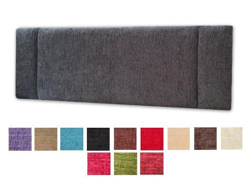 Whole Sale Direct Portobello Chenille hoofdeinde voor klein tweepersoonsbed, 137 cm