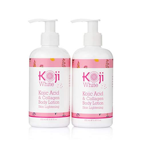 Koji White Kojic Acid & Collagen Body Lotion Skin Brightening - Women Gift Set (2 Pack) - for Moisturizer & Radiant Complexion, Uneven Skin Tone - 8.45 Fl Oz Bottle