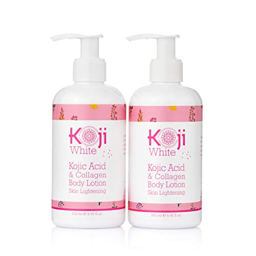 Koji White Kojic Acid & Collagen Body Lotion Skin Brightening - Women Gift Set (2 Pack) - for Moisturizer & Radiant Complexion, Uneven Skin Tone - 8.45 Fl Oz Bottle