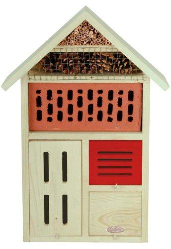 Esschert Design 2 Stück Insektenhotel, Insektenhaus aus Holz mit Metalldach, ca. 37 cm x 11 cm x 57 cm